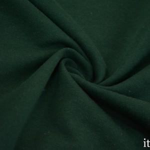Ткань Трикотаж Футер Хлопковый, цвет зеленый (7333)