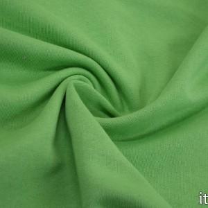 Ткань Трикотаж Футер Хлопковый, цвет зеленый (7335)