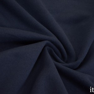 Ткань Трикотаж Футер Хлопковый, цвет синий (7328)