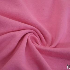 Ткань Трикотаж Футер Хлопковый, цвет розовый (7327)