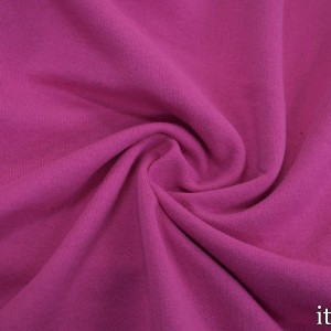 Ткань Трикотаж Футер Хлопковый, цвет розовый (7342)