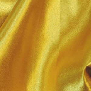 """Ткань Креп-сатин """"Нео-Желтый"""", цвет желтый (i851)"""