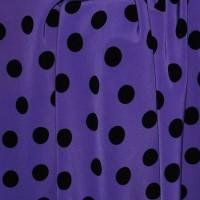 """Ткань Лоренсо """"Черные горохи на фиолетовом"""""""