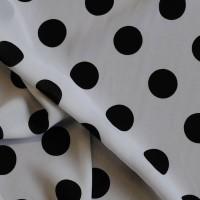 """Ткань Лоренсо """"Черные горохи на белом"""""""