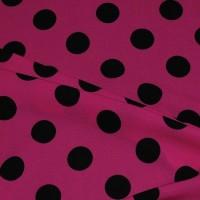 """Ткань Лоренсо """"Черные горохи на грязно-розовом"""""""