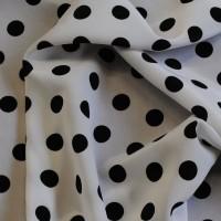 """Ткань Лоренсо """"Черные горохи на белом"""" малые"""