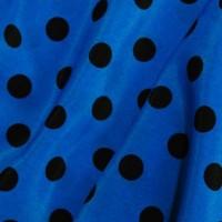 """Ткань Лоренсо """"Черные горохи на синем"""""""
