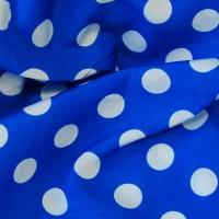 """Ткань Лоренсо """"Белые горохи на голубом"""""""
