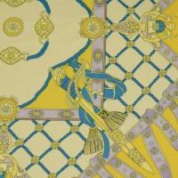 """Ткань Шелк Атлас Принт """"Желтый платок"""""""
