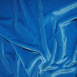 "Ткань Бархат-стрейч ""Голубой"", цвет голубой (i991)"
