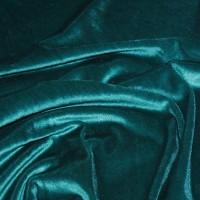 Ткань Бархат-стрейч «Зеленая сосна»
