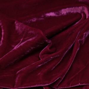 Ткань Бархат-стрейч, цвет бордовый (i5762)