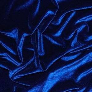"Ткань Бархат-стрейч ""Ультрамарин"", цвет синий (i265)"