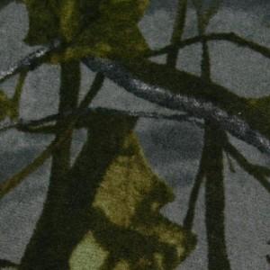 Ткань искусственный мех, узор цветочный (i5181)