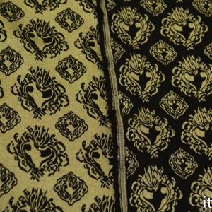 Ткань Жаккард Хлопковый 243 г/м2, узор цветочный (7414)