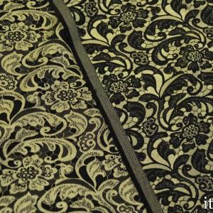Ткань Жаккард Хлопковый 240 г/м2, узор цветочный (7415)