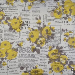Ткань Штапель Принт 114 г/м2, узор цветочный (7430)