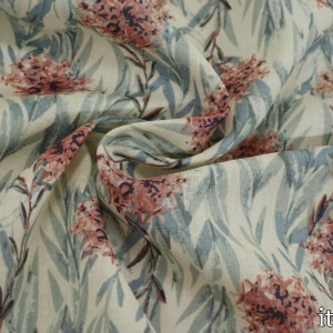 Лен Рубашечный 135 г/м2, узор цветочный (7457)