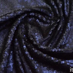 Ткань с пайетками 315 г/м2, цвет синий (7445)