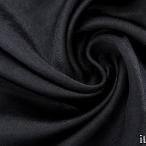Атласная ткань 130 г/м2, цвет черный (7591)