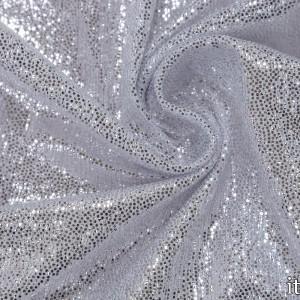Парча стрейч 170 г/м2, цвет серебро (7520)