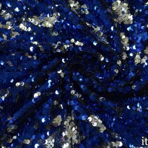 Двухсторонние пайетки на сетке 300 г/м2, цвет синий (7741)