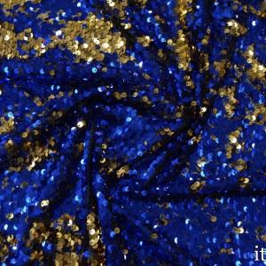 Двухсторонние пайетки на сетке 300 г/м2, цвет синий (7745)