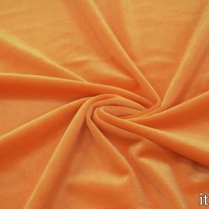 Бархат стрейч 8426 цвет оранжевый