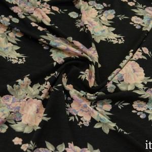 Трикотаж Вискозный Принт 225 г/м2, узор цветочный (8468)