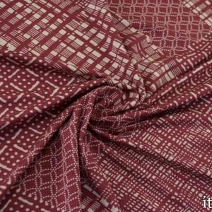 Трикотаж Вискозный Принт 225 г/м2, цвет бордовый (8475)