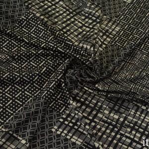 Трикотаж Вискозный Принт 225 г/м2, цвет серый (8467)