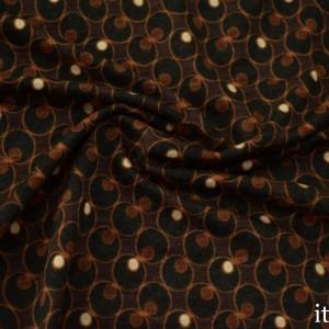 Трикотаж Вискозный Принт 225 г/м2, цвет коричневый (8479)