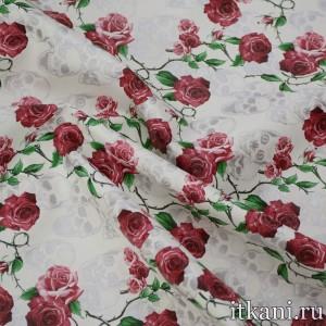 Ткань Искусственная Кожа, узор цветочный (5384)