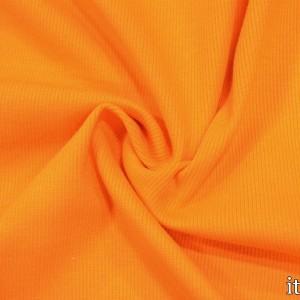 Трикотаж Рибана 260 г/м2, цвет оранжевый (9891)