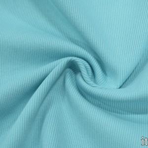 Трикотаж Рибана 350 г/м2, цвет голубой (9894)