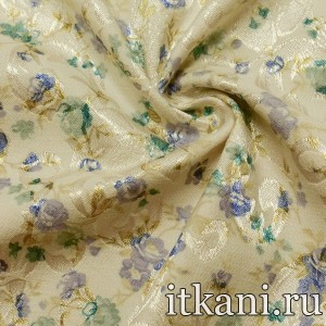 Ткань Жаккард, узор цветочный (3927)