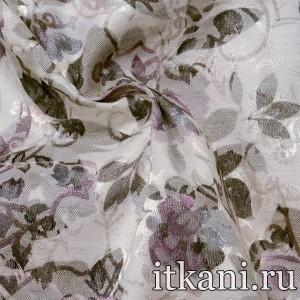 Ткань Жаккард, узор цветочный (3932)