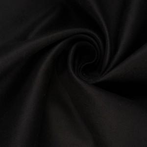 Хлопок костюмный 400 г/м2, цвет черный (10408)