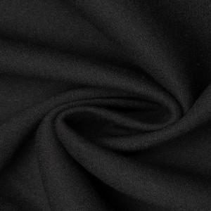 Шерсть пальтовая 630 г/м2, цвет черный (9557)