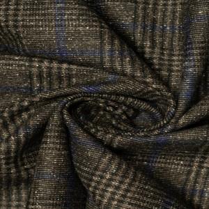Шерсть костюмная 210 г/м2, узор клетка (9572)