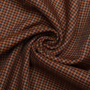 Шерсть костюмная 260 г/м2, узор гусиная лапка (9465)