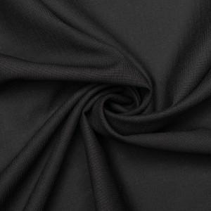 Шерсть плательная Boglioli 130 г/м2, цвет черный (9473)