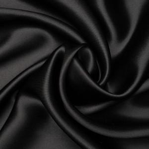 Шелк атласный 150 г/м2, цвет черный (9488)