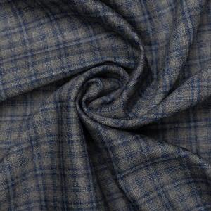 Шерсть костюмная Boglioli 160 г/м2, узор клетка (9490)