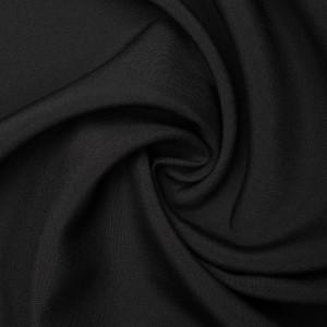 Ткань костюмная 180 г/м2, цвет черный (9467)