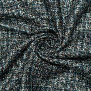 Шерсть костюмная шанель 200 г/м2, узор клетка (9499)