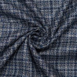 Шерсть костюмная шанель 170 г/м2, узор клетка (9410)