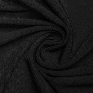 Ткань костюмная 270 г/м2, цвет черный (9454)