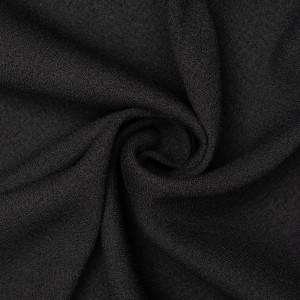 Шелк плательный креп 240 г/м2, цвет черный (9422)