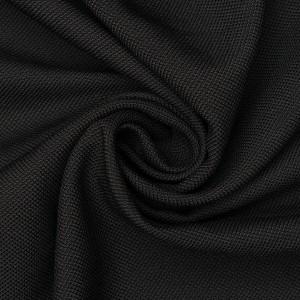 Ткань костюмная 300 г/м2, цвет черный (9416)